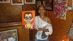 Туземцы острова Koh Lipe рисуют