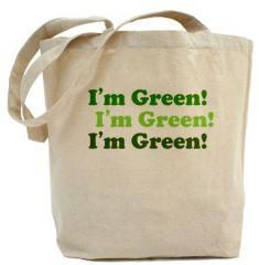 green grocery reusable Bag