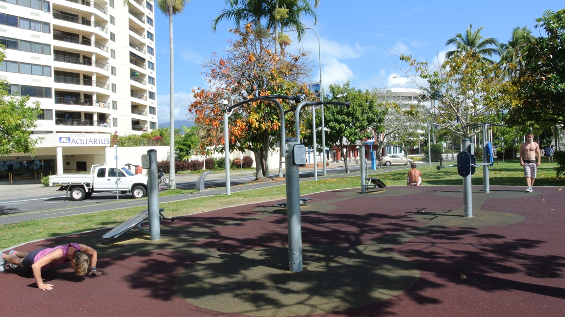Cairns, Australia, esplanade, бесплатная тренажерка