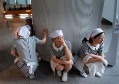 Во время землетрясения в Японии