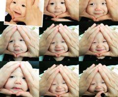 В Японии набирают популярность 'дети–онигири' 赤ちゃんおにぎり. Родители массово размещают фотографии своих детей со сплющенными в форме сердечка личиками 2