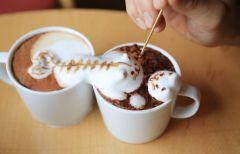 3D рисунки на кофе