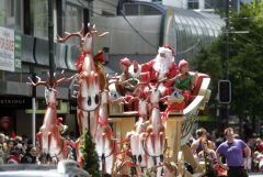 Santa Out In style In Wellington