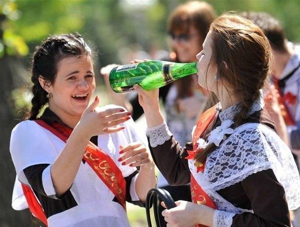 Шалости выпускниц пьяных