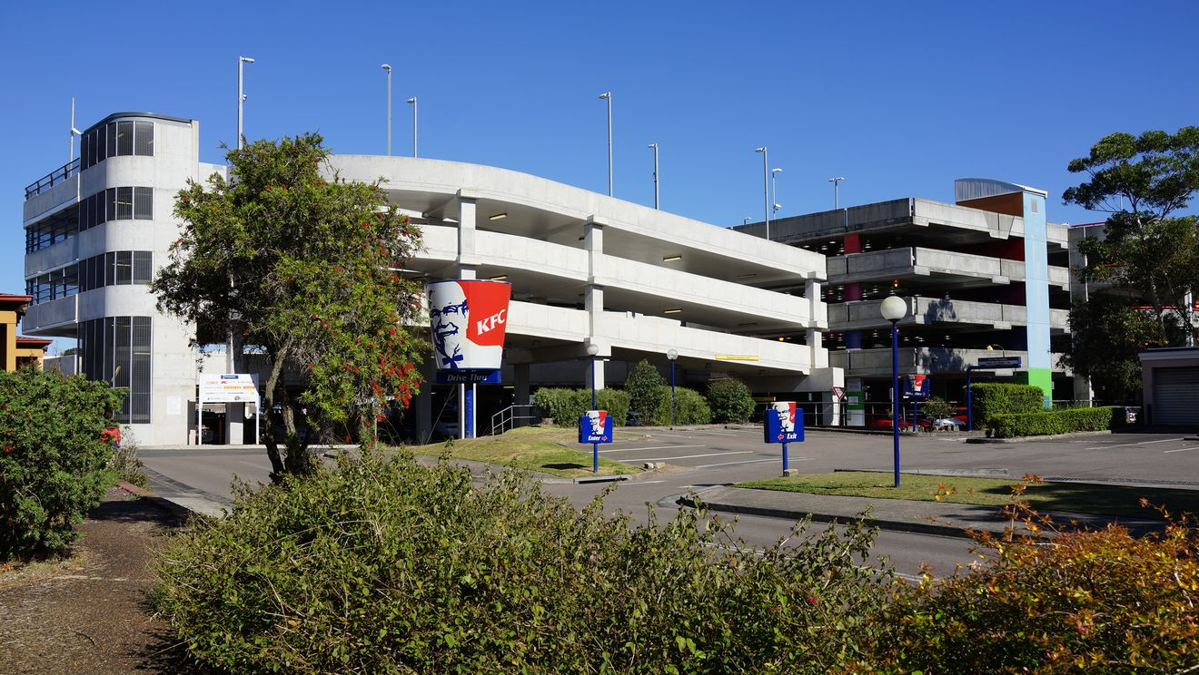 Woy Woy парковка и закусочная KFC