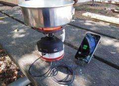 Газовая печь с зарядкой USB