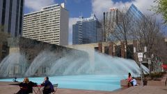Edmonton фонтан в парке