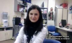 Войнилович Арина, work And study In Ireland