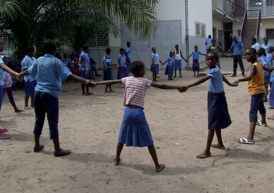 1 сентября, школьники и школьницы Республики Конго, Африка 4