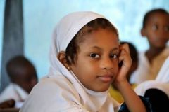 1 сентября, школьники и школьницы Союза Коморских Островов, Африка