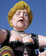 Кукольная карикатура Ангелы Меркель