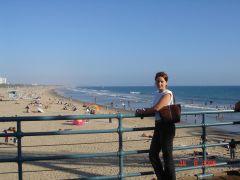 На пляже в Санта-Монике
