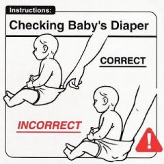 Checking baby