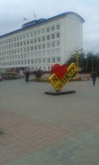 Площадь в центре Элисты.