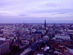 Гамбург вид на город с церкви св. Михаила