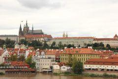 Прага вид на город