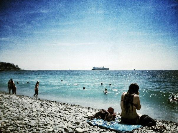 Ницца.Лазурный берег.Пляж