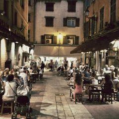 Ницца.Вечерние улицы города