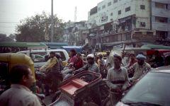 Индия.Нью-Дели.Пробка в центре города