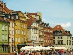 пряничные домики на центральной площади Варшавы.