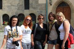 с нашим гидом по Чехии Патрицией в Кутна Горе под впечатлением