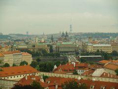 панорама краснокрышечных домов