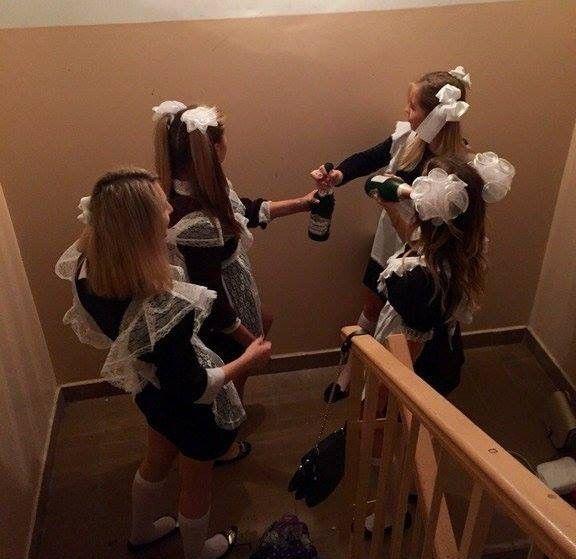 пьяные выпускницы школы фото