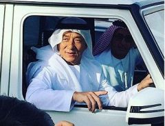 Jackie Chan In dishdash In Dubai