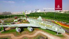 цветочная инсталляция в Дубае