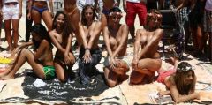 Women Are challenging Brazilian stereotypes By going topless On Rio De Janeiro's Ipanema beach.