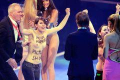 Femen Disrupts Germany's Next Top Model Taping