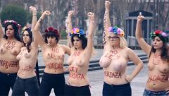 Femen Spai   No A La Ley Mordaza! No To The Spanish Gag Law!