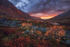 Долина реки Малая Белая. Хибины, Кольский полуостров.