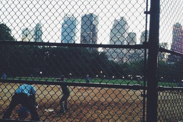 бейсбол в центральном парке