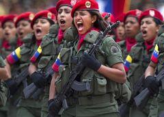 Военные учении в жнском батальоне Венесуэллы
