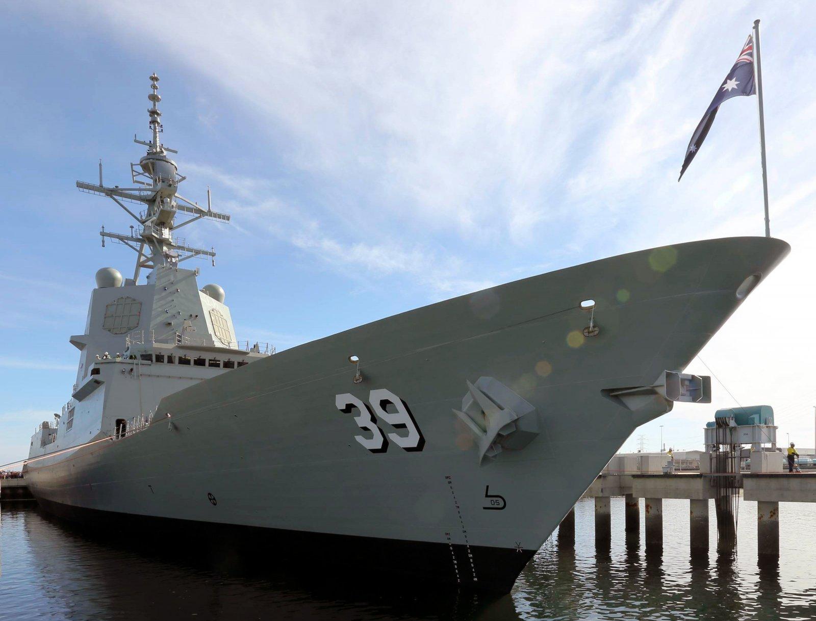 the Royal Australian Navy's new air-warfare destroyers
