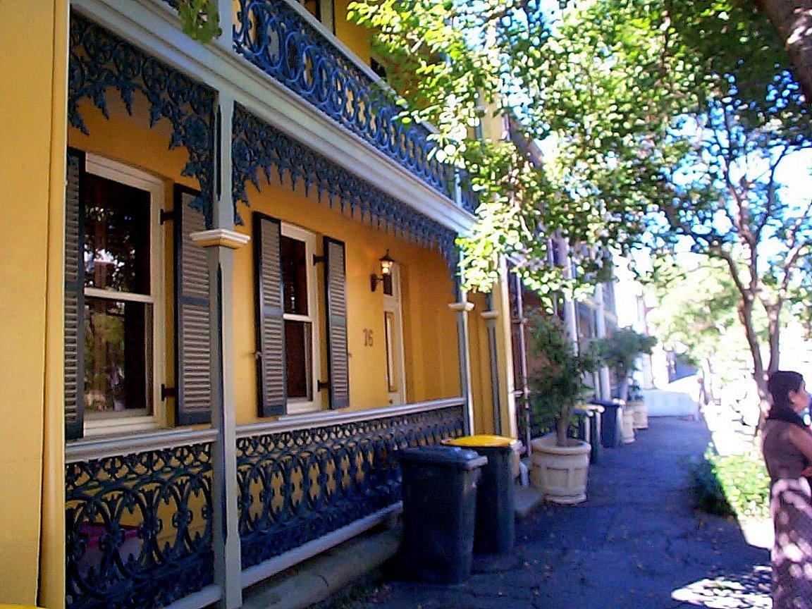 Victorian terrace streets cape