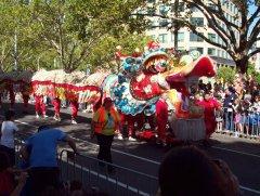 Какой парад без китайского дракона?