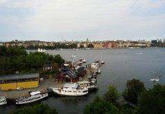 вид на Kungsholmen с балкона дорогой Гудрун