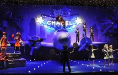Новогоднее оформление витрины Chanel