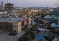 Вид на город с верхней палубы