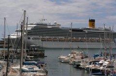 Круизный лайнер на Мальте