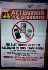не использовать мобильники