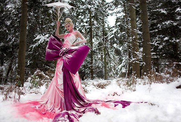 Просто модель в лесу. Зима..jpg