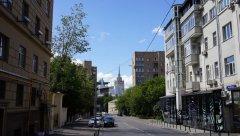 Садовое кольцо, вид с Новинского бильвара на Проточный переулок, Москва 23.07.2017 г..JPG