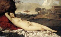 Джорджоне. Спящая Венера. 1510, Дрезденская галерея.jpg