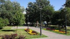 Садовое кольцо, Стела в память Сухаревой башни Большая Сухаревская площадь Москва 11.08.2018 г..JPG