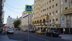 Садовое кольцо, вид на Ананьевский переулок с Большой Сухаревской площади, Москва 11.08.2018 г.JPG