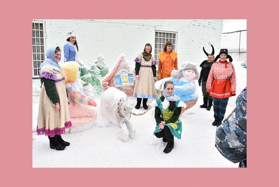 Новый 2019 год снежно-культурный конскурс в исправительной колонии №5 Новосибирская область.jpg