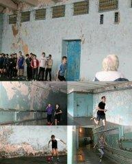 Это не кадры из фильма ужасов. Это Кривой Рог. Стадион Металлург. Городские соревнования по легкой атлетике среди детей..JPG